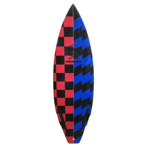 "5`4 x 19.2 "" x 2 .14"" Shortboard/ Riverboard squash tail double winger"