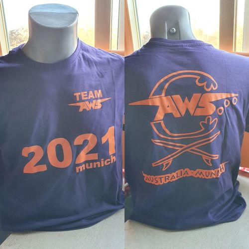 T -. SHIRT TEAM AWS  Munich 2021 violett